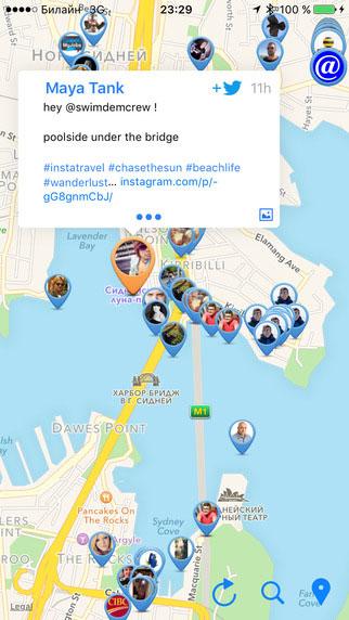 تطبيق Meetweet لاستعراض تغريدات تويتر بحسب المكان