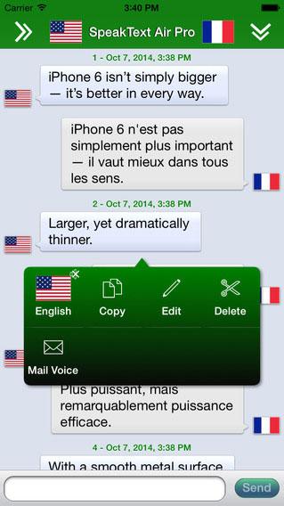 تطبيق SpeakText Air لإجراء محادثات وترجمة مباشرة
