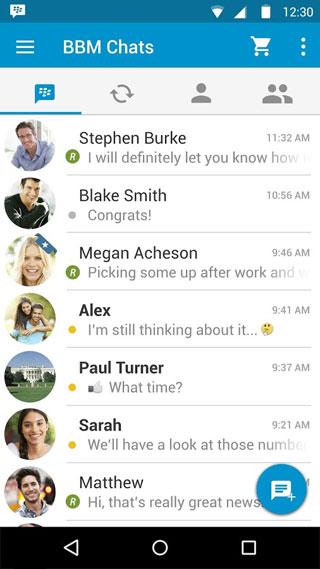 تطبيق BBM من شركة بلاكبيري على أجهزة الأندرويد - مجانا