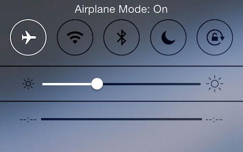 تفعيل وضع الطيران في الأيفون والأيباد