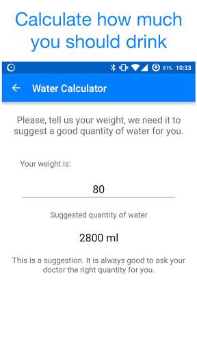 تطبيق Drink Water لمتابعة كمية الماء الواجب عليه شربها