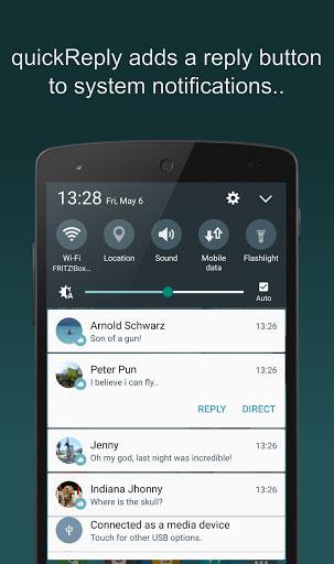 تطبيق quickReply (NEW) للرد السريع على الرسائل من شاشة القفل