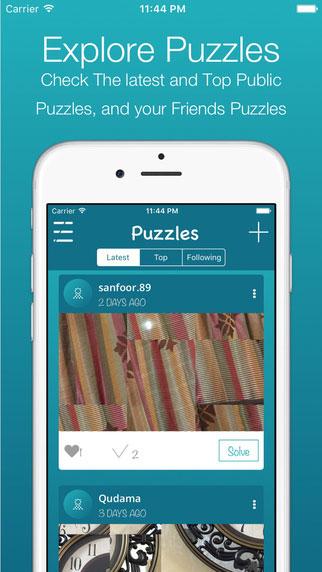 لعبة PuzzPic المميزة لإنشاء ألغاز الصور وحلها بنفسك