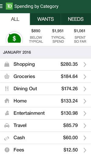 تطبيق TD MySpend مهم جدا لإدارة حياتك المالية بذكاء