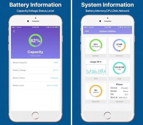 تطبيق Battery Doctor لعرض تفاصيل النظام بدقة