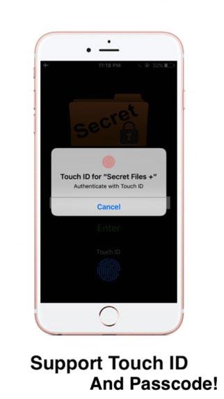 تطبيق Secret Files + لحماية الصور والملاحظات بالبصمة