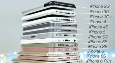 فيديو: مقارنة بين جميع أجهزة الأيفون من 2007 حتى 2016