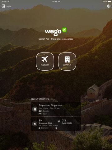 تطبيق Wego الذكي للحصول على حجوزات الطيران والفنادق