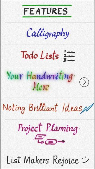 تطبيق لكتابة الرسائل والملاحظات بخط يديك من خلال الأيفون والآيباد