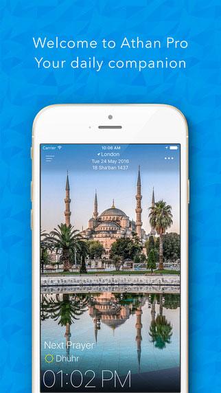 تطبيق Athan Pro لعرض مواقيت الصلاة والكثير من المزايا المهمة