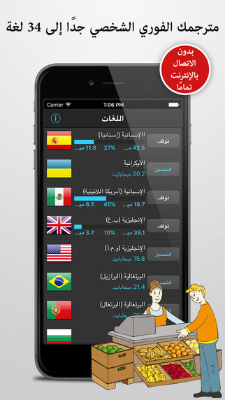 تطبيق مترجم السفر - دليلك لتعلم اللغات والترجمة الفورية