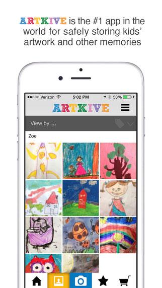 تطبيق Artkive لحفظ رسومات الأطفال ومشاركتها