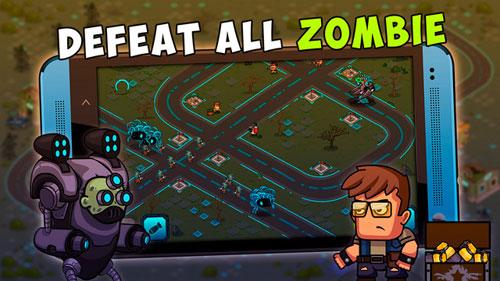 لعبة Cyborg Zombie Defence الاستراتيجية - قوية مثيرة وبسيطة في اللعب