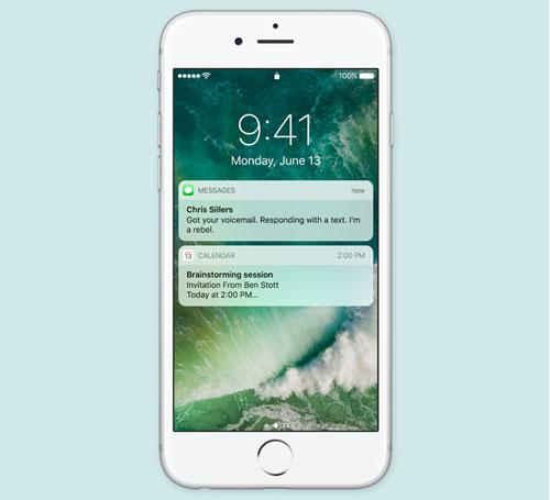 شاشة القفل iOS 10