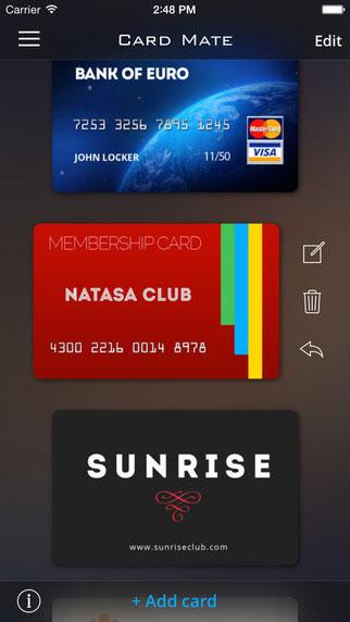تطبيق Card Mate Pro لحفظ البطاقات المهمة في مكان واحد