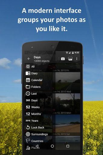 تطبيق PhotoMap لاستعراض الصور مع عدة خيارات رائعة