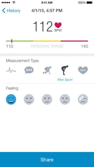 تطبيق Runtastic Heart Rate لحساب دقات القلب