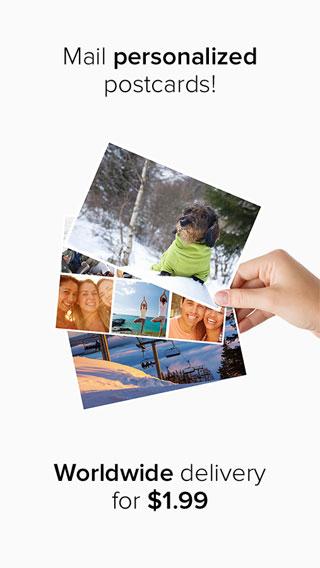 تطبيق Postly لإرسال البطاقات المصورة للأصدقاء
