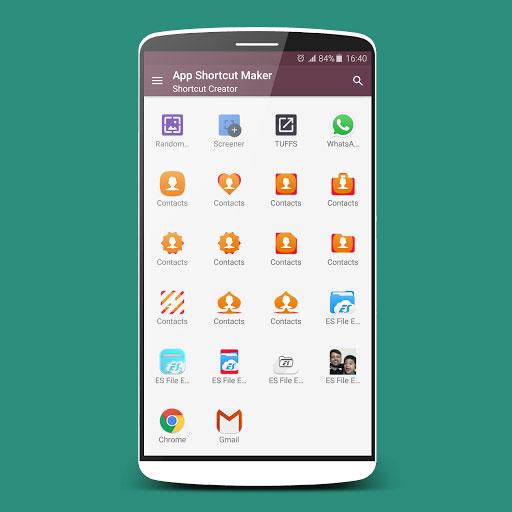 تطبيق App Shortcut Maker لإنشاء اختصارات للتطبيقات وجهات الاتصال