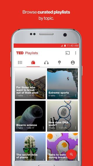 تطبيق TED لاستعراض نصائح الناجحين والمؤثرين