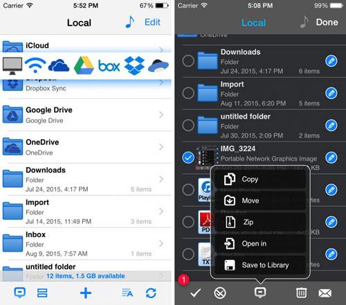 تطبيق Phone Drive - مدير ملفات احترافي للأيفون والآيباد