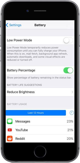 ميزة Battery Life Suggestions لإطالة عمر البطارية