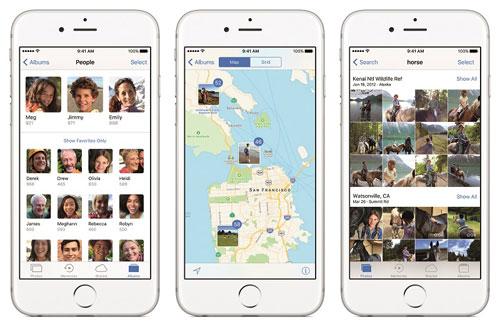 تطبيق الصور على iOS 10