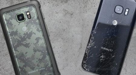 فيديو: جالكسي S7 ضد جالكسي S7 Active في اختبار الصمود