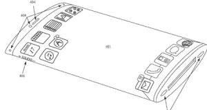 براءة اختراع - جهاز الأيفون المستقبلي مع شاشة منحنية