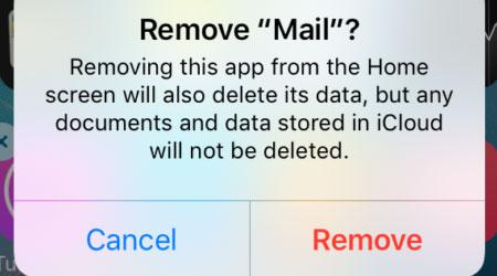 صورة تلميحة: حذف التطبيقات الرسمية عبر iOS 10 – مهمة جدا