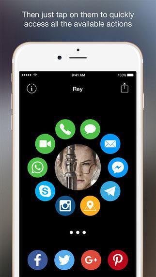 تطبيق Contacts Pad للوصول السريع إلى الأشخاص والتواصل معهم