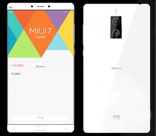 صورة تخيلية لجهاز Xiaomi Mi Note 2