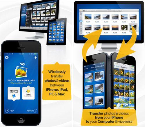 تطبيق Photo Transfer App لنقل الصور بين الأيفون والحاسوب