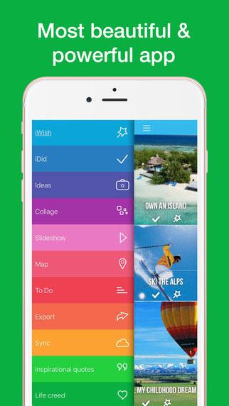 تطبيق iWish لتسجيل وتحقيق أحلامك