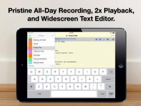 تطبيق Audio Notebook لإدارة المهام على الآيباد
