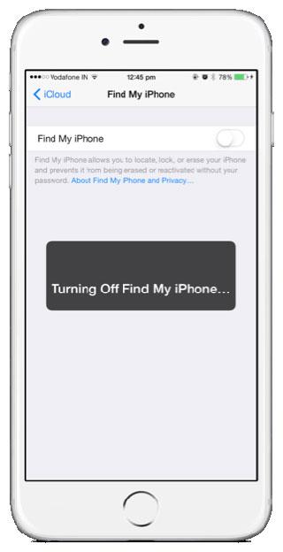 إيقاف خدمة العثور على الأيفون