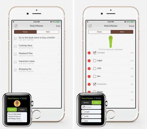 تطبيق WatchNotes لحفظ وإدارة مهامك اليومية