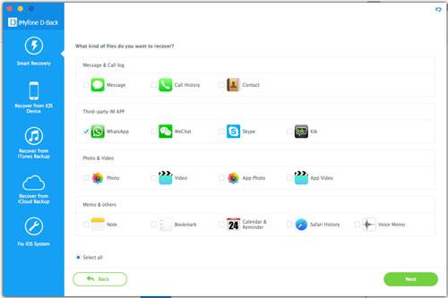 برنامج iMyFone D-Back لاسترجاع الملفات من الايفون والايباد