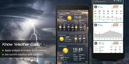 تطبيق Amber Weather للحصول على حالة الطقس بتصميم مميز