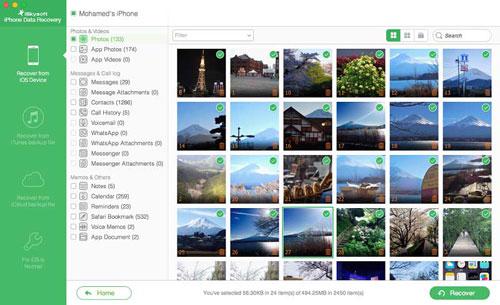 شرح برنامج iSkysoft iPhone Data Recovery
