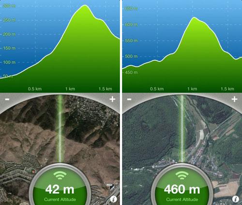 تطبيق Terrain Radar Altimeter لقياس المرتفعات