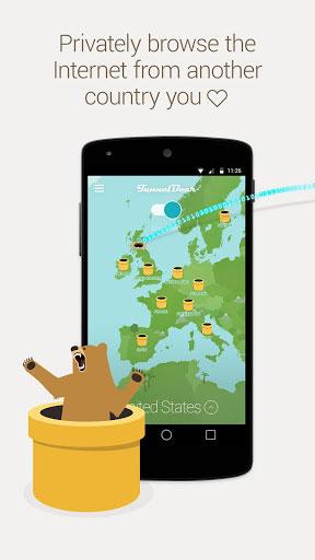 تطبيق TunnelBear VPN للحصول على اتصال محمي