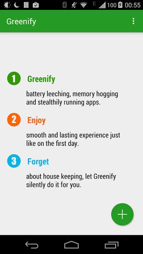 تطبيق Greenify للتحكم في التطبيقات التي تعمل في الخلفية