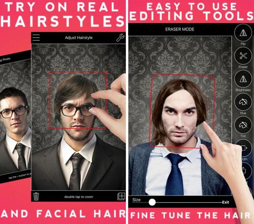 تطبيق Men's Hairstyles للعبث بصورتك وتغيير الشعر