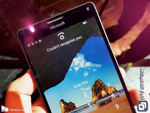 ميزة التعرف على العين في هاتف Microsoft Lumia 950