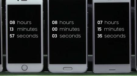 فيديو: اختبار قدرة بطارية أحدث الهواتف الذكية في السوق، من الأفضل ؟