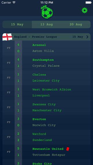 تطبيق English League لمتابعة الدوري الإنجليزي لكرة القدم