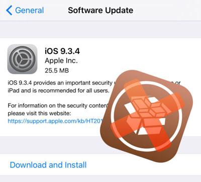 تحذير: آبل تطلق تحديث iOS 9.3.4 من أجل غلق ثغرة الجيلبريك