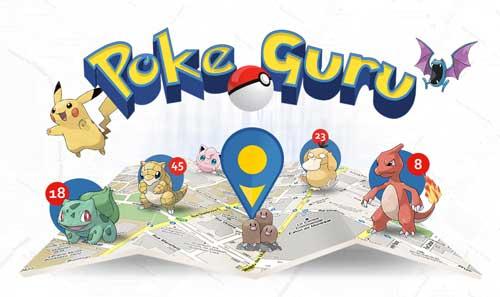 تطبيق Poke Guru خريطة مساعدة لاصطياد البوكيمون والنقاط - مجاني