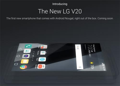 جوجل تؤكد: جهاز LG V20 سيعمل بنظام الأندرويد 7.0 مباشرة